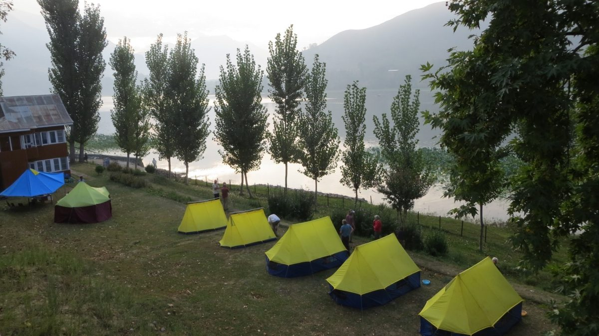 Water trek Campsite, Manasabal Lake, Kashmir